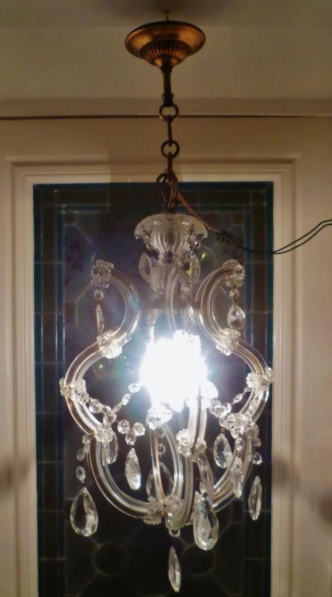 仏蘭西アンティーク亭***1灯ガラスシャンデリア  鳥籠