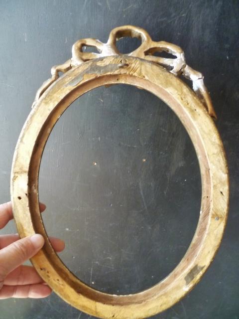 仏蘭西アンティーク亭 リボン装飾のオーバル小型額                                         [14JUI22/AG004]